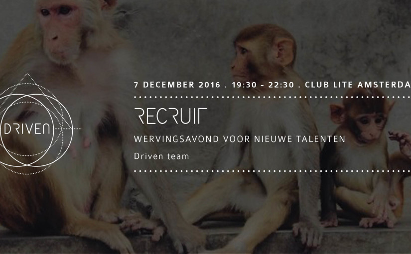 Driven: Recruit - wervingsavond voor nieuwe talenten